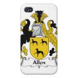 Escudo de la familia de Allen iPhone 4/4S Carcasa