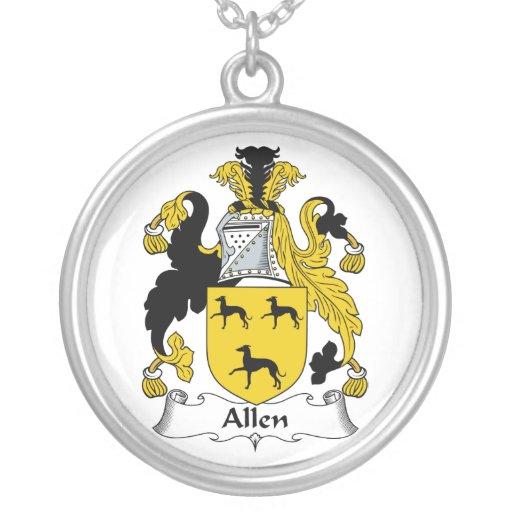 Escudo de la familia de Allen Pendientes