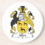 Escudo de la familia de Allen Posavasos Manualidades