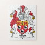 Escudo de la familia de Allen Puzzles Con Fotos