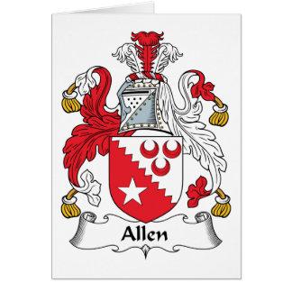 Escudo de la familia de Allen Tarjeta De Felicitación
