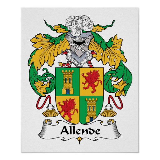 Escudo de la familia de Allende Póster