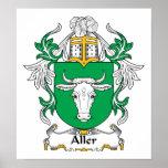 Escudo de la familia de Aller Posters