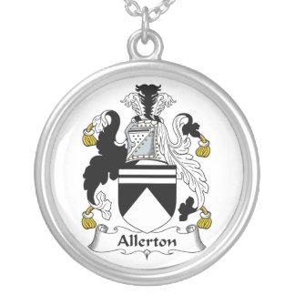 Escudo de la familia de Allerton Colgante Redondo