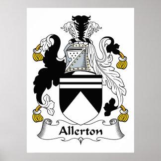 Escudo de la familia de Allerton Impresiones