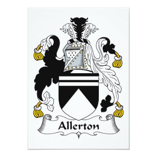 """Escudo de la familia de Allerton Invitación 5"""" X 7"""""""