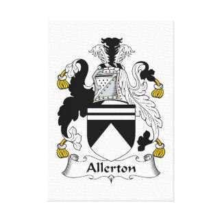 Escudo de la familia de Allerton Impresión En Lona Estirada