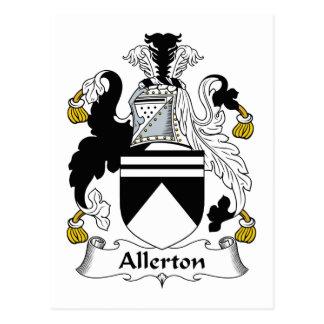 Escudo de la familia de Allerton Postal