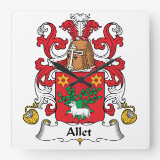 Escudo de la familia de Allet Relojes