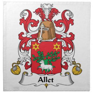 Escudo de la familia de Allet Servilletas De Papel