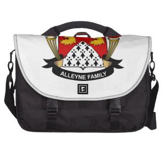 Escudo de la familia de Alleyne Bolsa De Ordenador