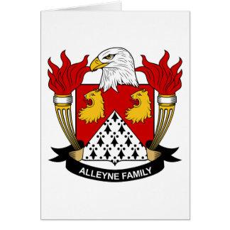 Escudo de la familia de Alleyne Tarjeta De Felicitación