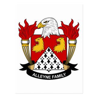 Escudo de la familia de Alleyne Tarjeta Postal