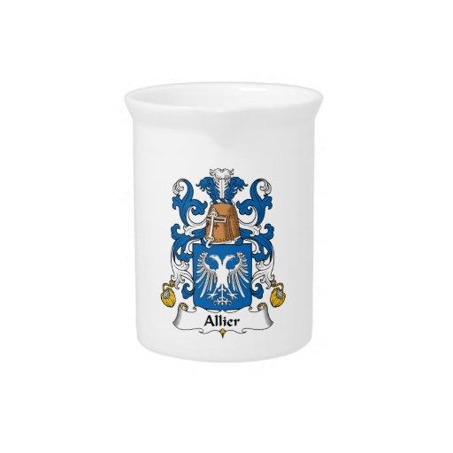 Escudo de la familia de Allier Jarrón