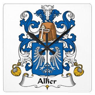 Escudo de la familia de Allier Reloj De Pared