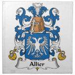 Escudo de la familia de Allier Servilleta