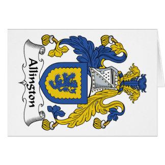 Escudo de la familia de Allington Felicitaciones