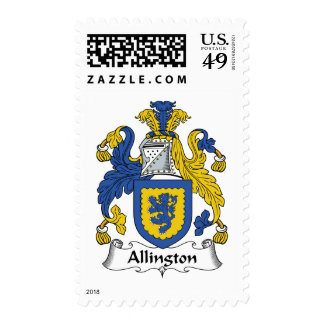 Escudo de la familia de Allington Franqueo