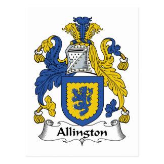 Escudo de la familia de Allington Postal