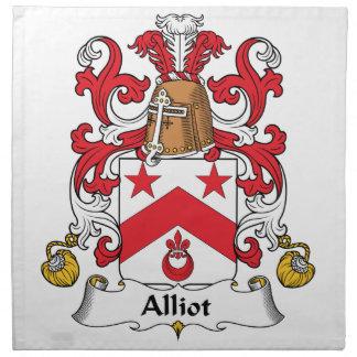 Escudo de la familia de Alliot Servilleta De Papel