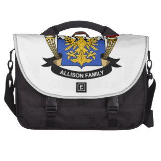 Escudo de la familia de Allison Bolsa Para Ordenador
