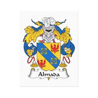 Escudo de la familia de Almada Lona Envuelta Para Galerías
