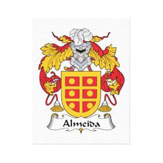 Escudo de la familia de Almeida Lona Envuelta Para Galerias