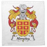 Escudo de la familia de Almeida Servilletas