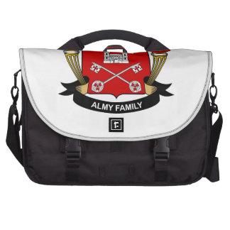 Escudo de la familia de Almy Bolsas De Portátil