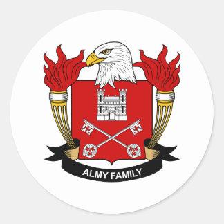 Escudo de la familia de Almy Pegatina Redonda