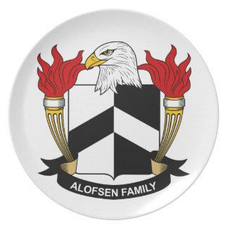 Escudo de la familia de Alofsen Plato Para Fiesta