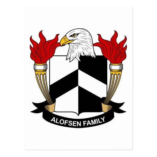 Escudo de la familia de Alofsen Tarjetas Postales