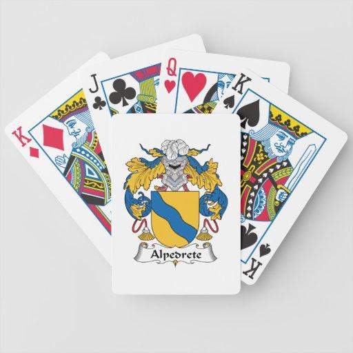 Escudo de la familia de Alpedrete Baraja Cartas De Poker