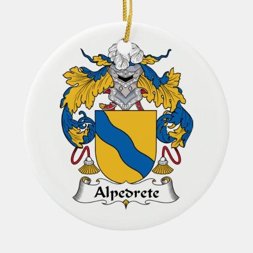 Escudo de la familia de Alpedrete Adorno Redondo De Cerámica