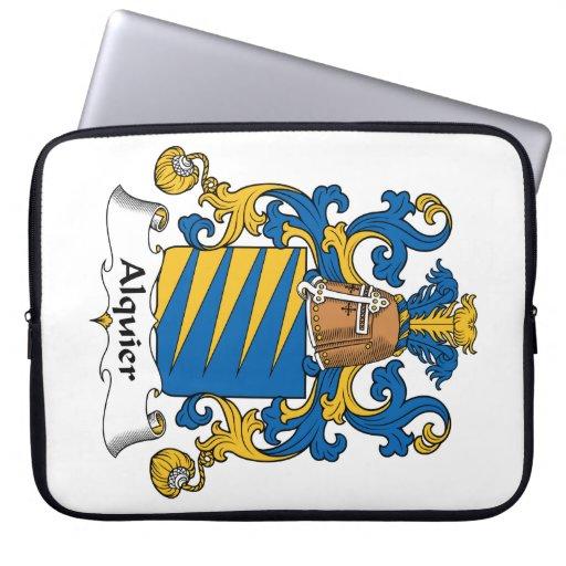 Escudo de la familia de Alquier Funda Computadora