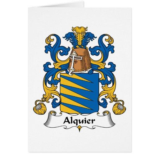 Escudo de la familia de Alquier Tarjeta