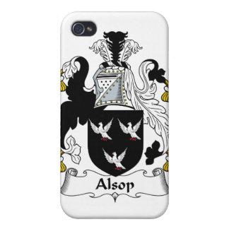 Escudo de la familia de Alsop iPhone 4/4S Funda
