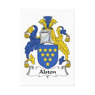 Escudo de la familia de Alston Impresión De Lienzo