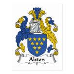 Escudo de la familia de Alston Postal