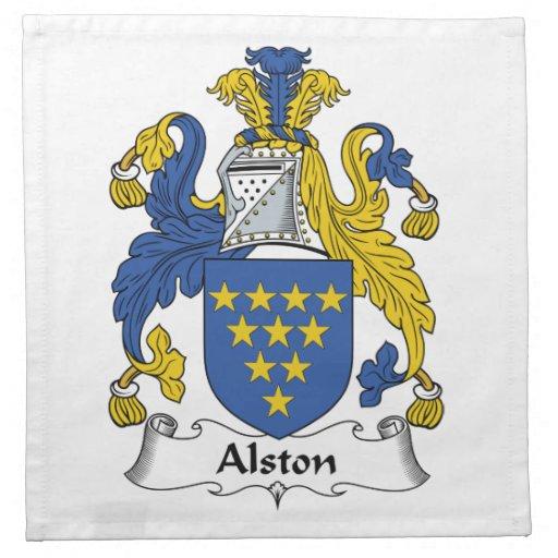 Escudo de la familia de Alston Servilleta De Papel