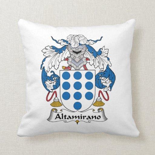 Escudo de la familia de Altamirano Almohada