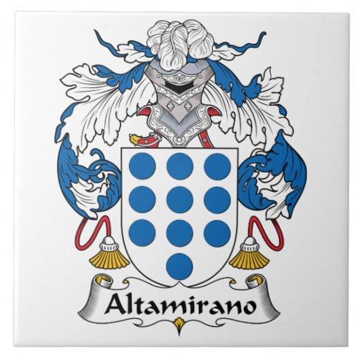 Escudo de la familia de Altamirano Azulejos Ceramicos