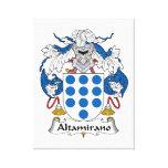 Escudo de la familia de Altamirano Lienzo Envuelto Para Galerias