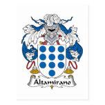 Escudo de la familia de Altamirano Postal