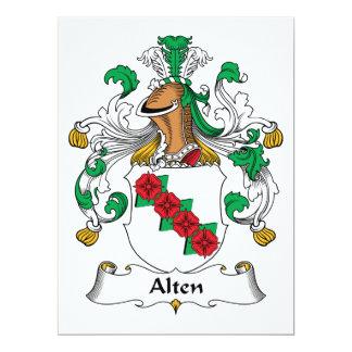 """Escudo de la familia de Alten Invitación 6.5"""" X 8.75"""""""