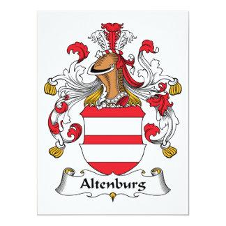 """Escudo de la familia de Altenburgo Invitación 6.5"""" X 8.75"""""""
