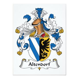 """Escudo de la familia de Altendorf Invitación 6.5"""" X 8.75"""""""
