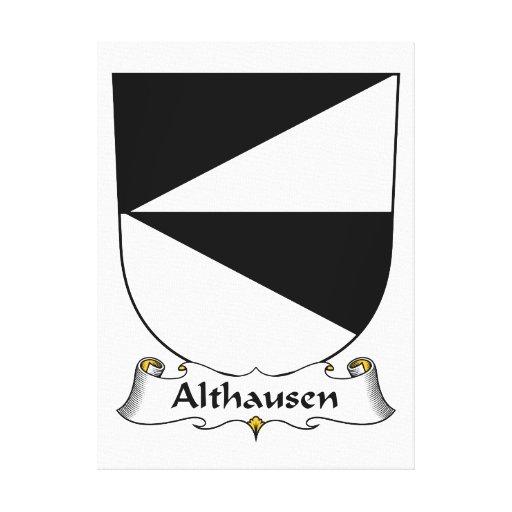 Escudo de la familia de Althausen Lienzo Envuelto Para Galerías