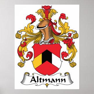 Escudo de la familia de Altmann Póster