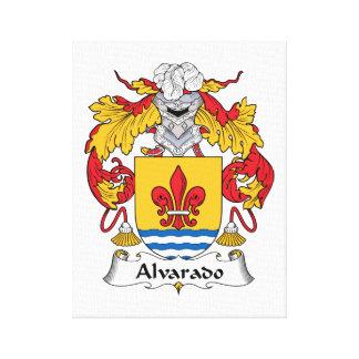 Escudo de la familia de Alvarado Lona Estirada Galerias